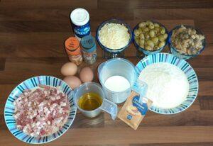 Cake lardons olives champignons 1