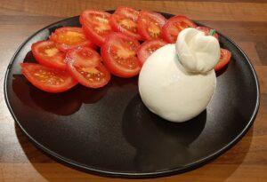 Burrata à la tomate