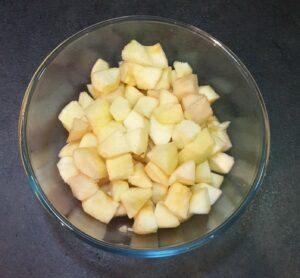Crumble pommepoire aux pepites de chocolat 3