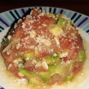Tartare tomates Avocats