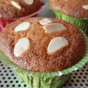 Muffins griottes amandes