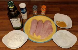 Poulet au curry et oignons
