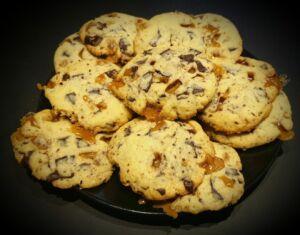 Cookies caramel pépites chocolat