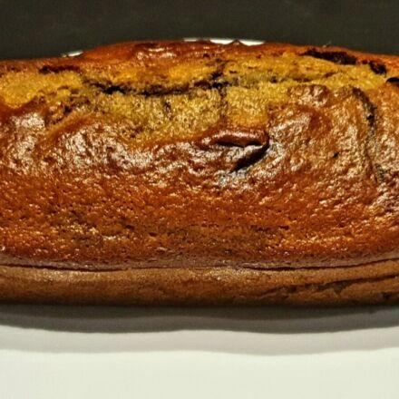 Cake au yaourt marbré à la vanille et au cacao