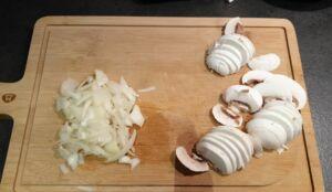Penne roquefort crème champignons