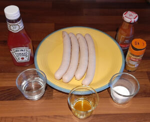 Currywurst - Saucisses blanches sauce curry