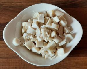 Salade de pates froide thon cœurs artichaud palmier et maïs