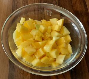 Gâteau moelleux à la mangue fraîche