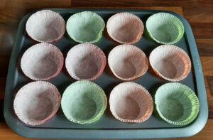 Muffins à la rhubarbe et aux framboises extra moelleux