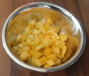 Panna cotta à la mangue fraiche