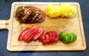 Tarte tomates colorées